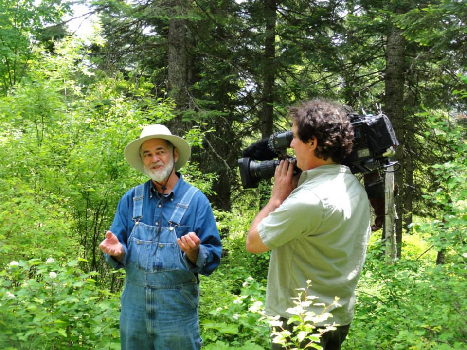 Andy Huber from GROWISER orchid preserve and OPB TV crew