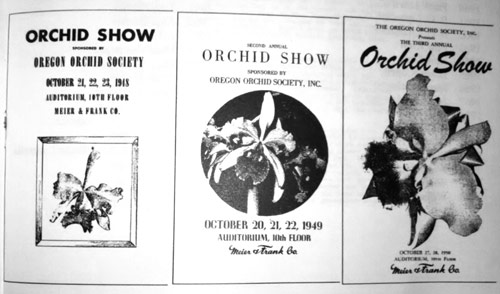 First Oregon Orchid Show fliers