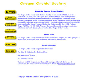 old Oregon Orchid Society website